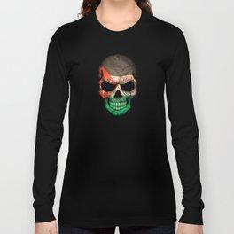 Dark Skull with Flag of Jordan Long Sleeve T-shirt