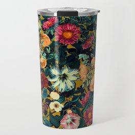 Floral Pattern Winter Garden Travel Mug