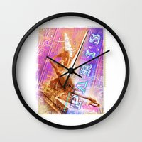 posters Wall Clocks featuring Paris Posters - Cupid + Psyche by G_Stevenson