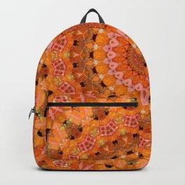 Orange kaleidoscope Backpack