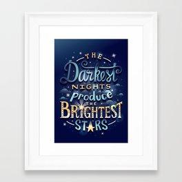 Brightest Stars Framed Art Print