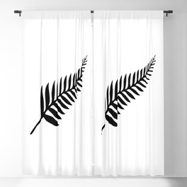 Silver Fern of New Zealand Blackout Curtain
