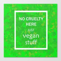 vegan Canvas Prints featuring Vegan by Adam Wolf