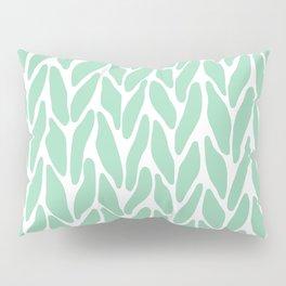 Hand Knitted Mint Pillow Sham