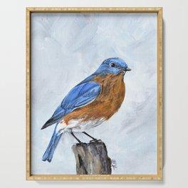 Bluebird Art Serving Tray