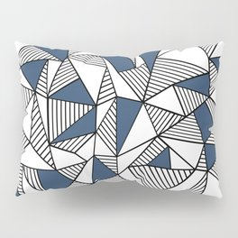 Abstraction Lines with Navy Blocks Pillow Sham