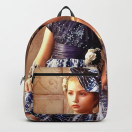 Little Girl Posing WIth Lion Ultra HD Backpack
