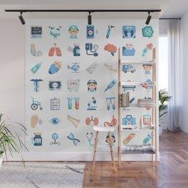 CUTE MEDICINE / SCIENCE / DOCTOR PATTERN Wall Mural