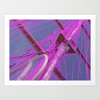 Purple Mast Art Print