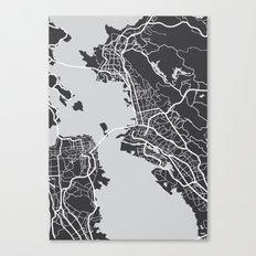 City map graphic Canvas Print