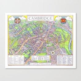 CAMBRIDGE University map ENGLAND Canvas Print