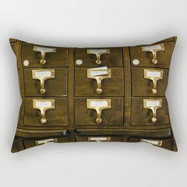 The Bank Drawers (Color) Rectangular Pillow