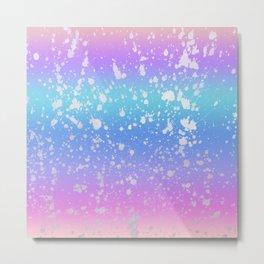 Pastel Unicorn Rainbow  Metal Print