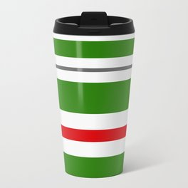Candy Cane Lane Racer Stripe Travel Mug