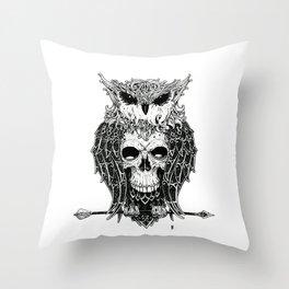 Owl Cave Throw Pillow