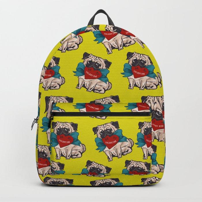 Be My Valentine Pug Backpack