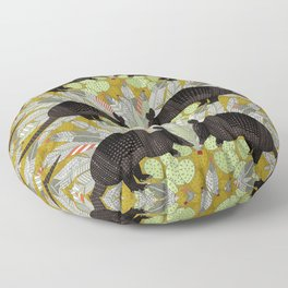 native armadillos gold Floor Pillow