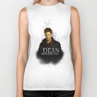 dean winchester Biker Tanks featuring Dean Winchester - Supernatural by KanaHyde