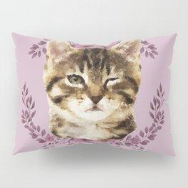 Cat Wink Pillow Sham