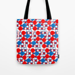 Red White & Blue Patriotic Modern Print Tote Bag