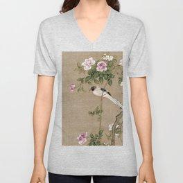 Flowers and Birds II Unisex V-Neck