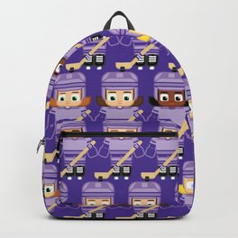 Super cute sports stars - Ice Hockey Purple Girls Backpack