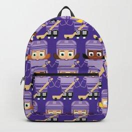 Super cute sports stars - Ice Hockey Purple Girls Backpack