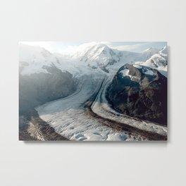Switzerland Mountain Glacier Metal Print