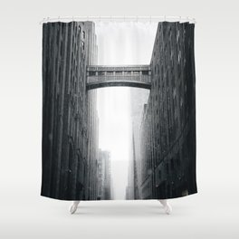 Snow Bridge in New York Shower Curtain