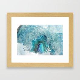 Blue Aqua Agate Framed Art Print