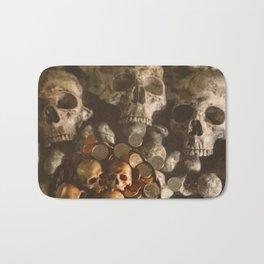 Catacomb Culture - Human Skulls and Coins Bath Mat