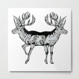Magic Deer Metal Print