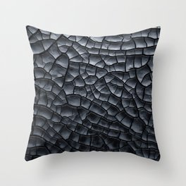 Gothic texture | Black and grey texture | Cracked design Throw Pillow