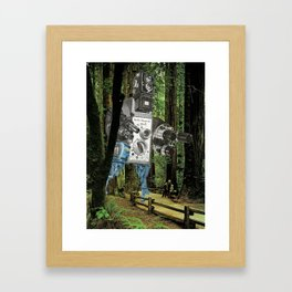Pardon My Intrusion Framed Art Print