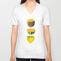 fruits V-neck T-shirts featuring Mixed Fruits by victor calahan