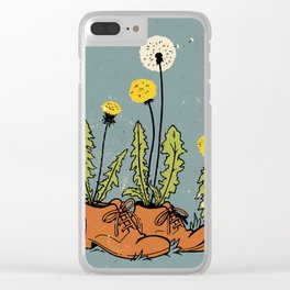 Dandy Shoes Clear iPhone Case