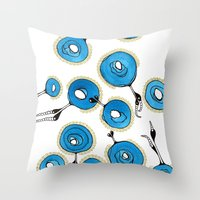 classy Throw Pillows featuring Classy by Gosia&Helena