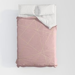 Blush pink & gold Comforters