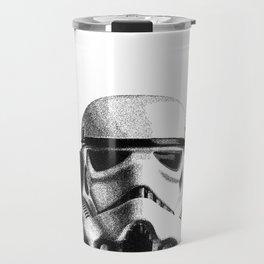 Stormtrooper Hand Drawn Dotwork - StarWars Pointillism Artwork Travel Mug
