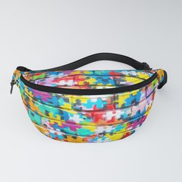 Rainbow Puzzle Fanny Pack