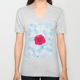 Hibiscus and Thunderhead reflected on the bubble_R Unisex V-Neck