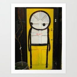 Stick Man Art Print