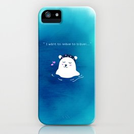i want to leave to travel... iPhone Case