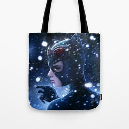 Catwoman Painting Tote Bag