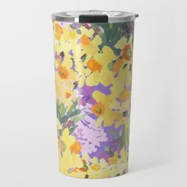 Yellow Daffodil Garden Travel Mug