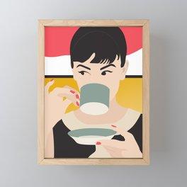Audrey Tea Time Framed Mini Art Print