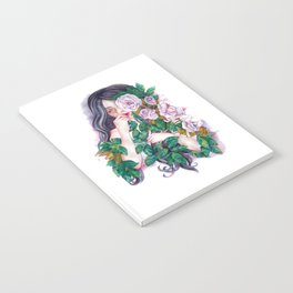 Pale Roses Notebook