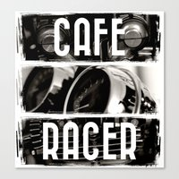 cafe racer Canvas Prints featuring Cafe Racer by Rainer Steinke