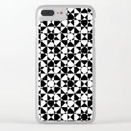 schwarz weiß kariert mz Clear iPhone Case