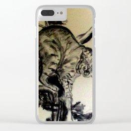 Bob Cat In A Tree Clear iPhone Case
